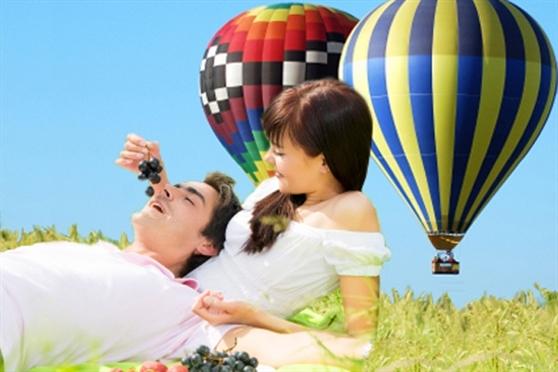 טיסה רומנטית בכדור פורח